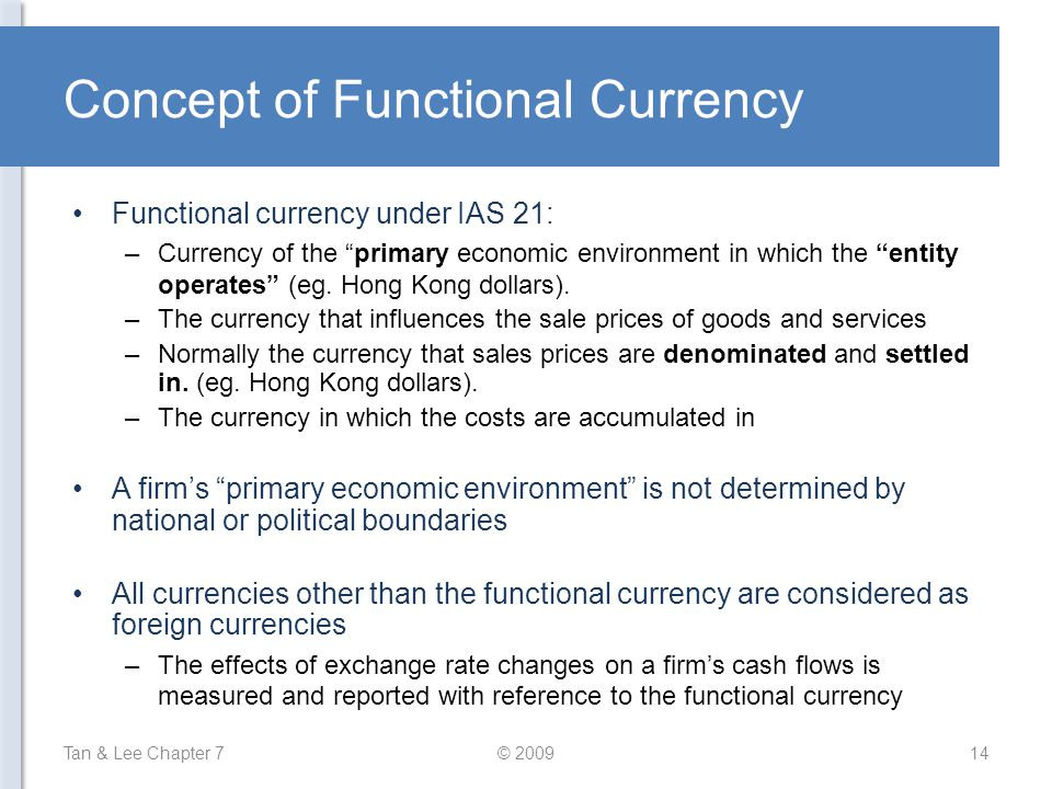 Concept of Functional Currency