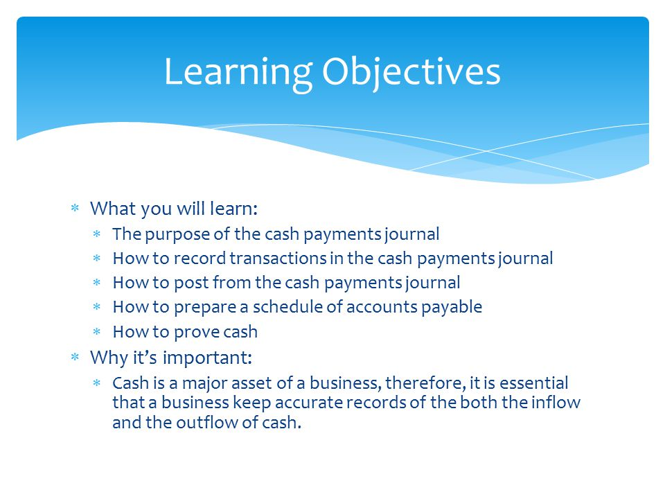 Learning Objectives What you will learn: Why it's important: