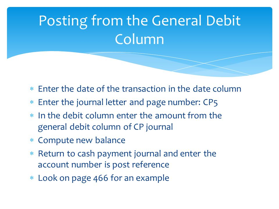 Ch 17 The Cash Payments Journal