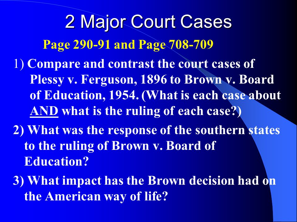 plessy v ferguson and brown v board of education essay