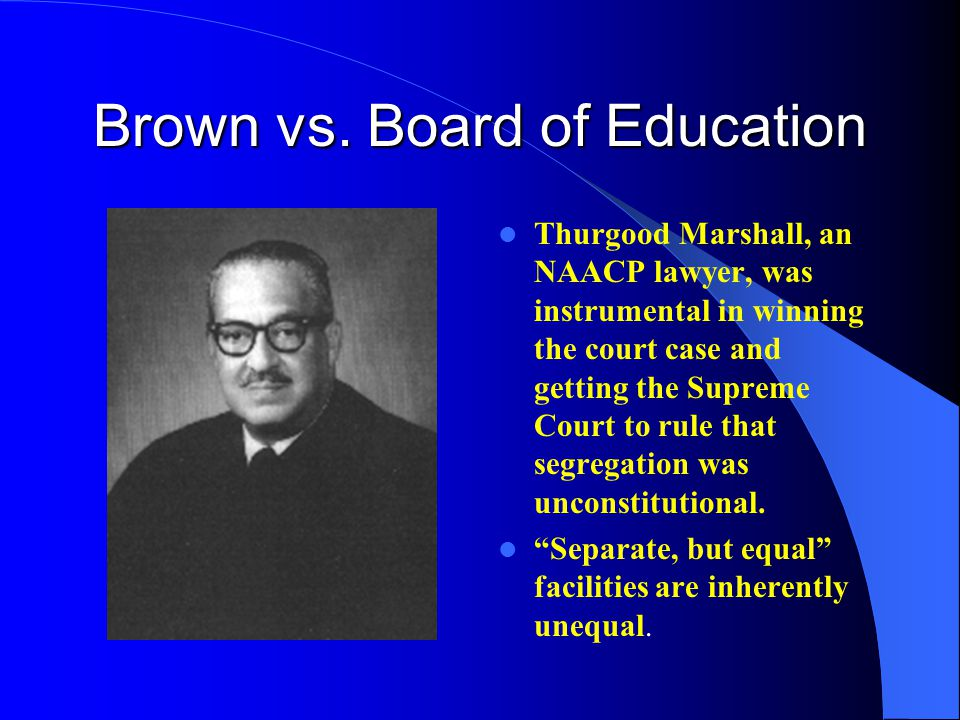 brown vs board of education case One of the children at the center of brown v board of education may 17, 2016 sherrilyn ifill argues brown v board of education legacy also extends to white children brown itself was not a single case, but rather a coordinated group of five lawsuits against school districts in kansas.