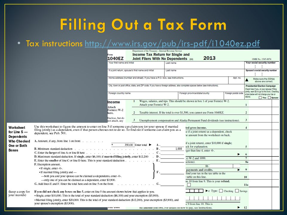 1040ez worksheet line f exemptions