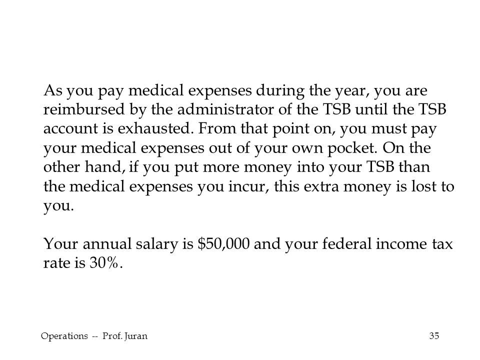 Your annual salary is $50,000 and your federal income tax rate is 30%.