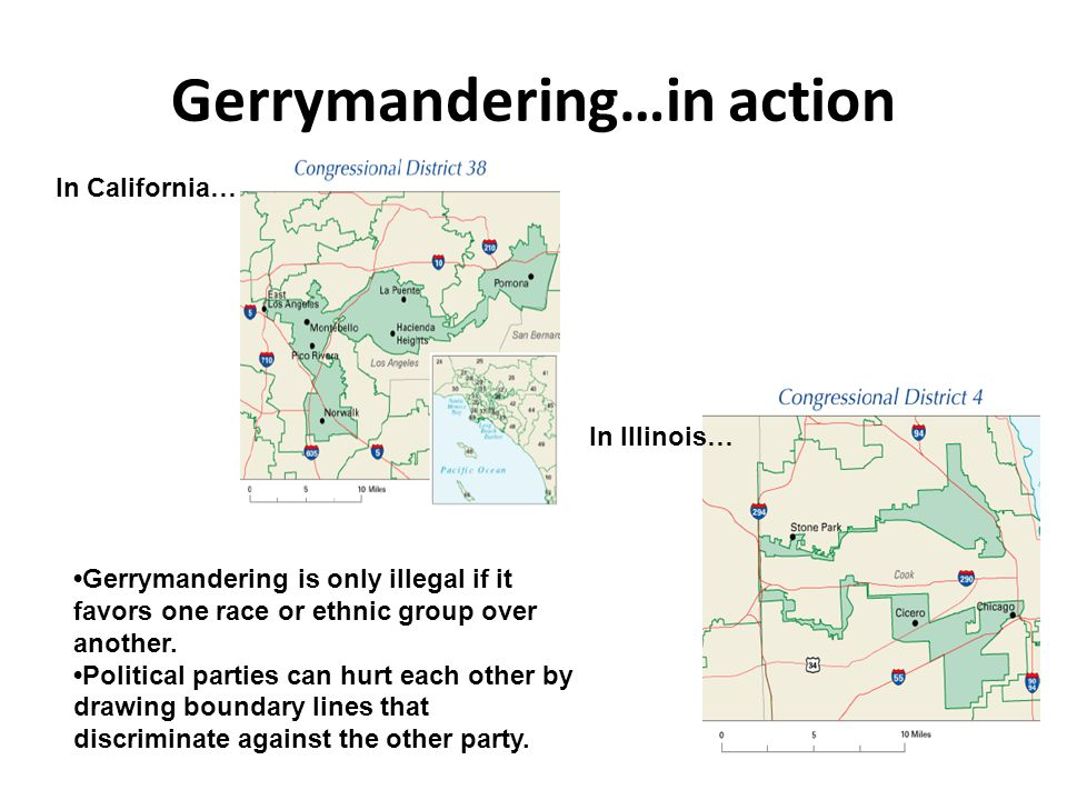 Gerrymandering…in action