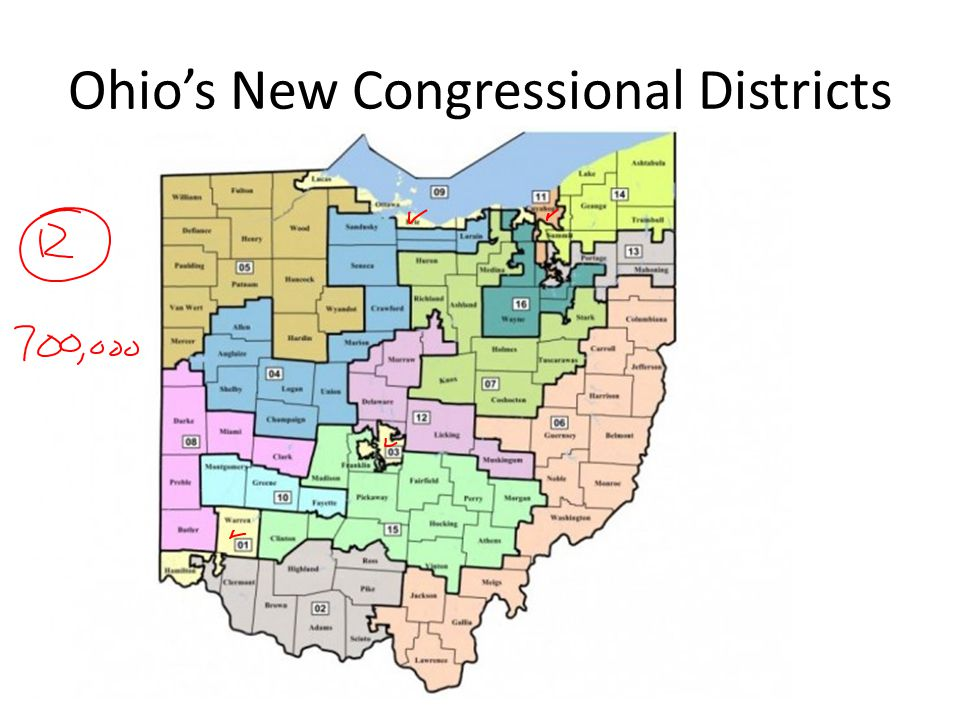 Ohio's New Congressional Districts