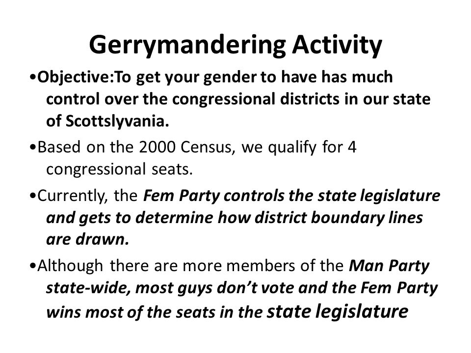 Gerrymandering Activity