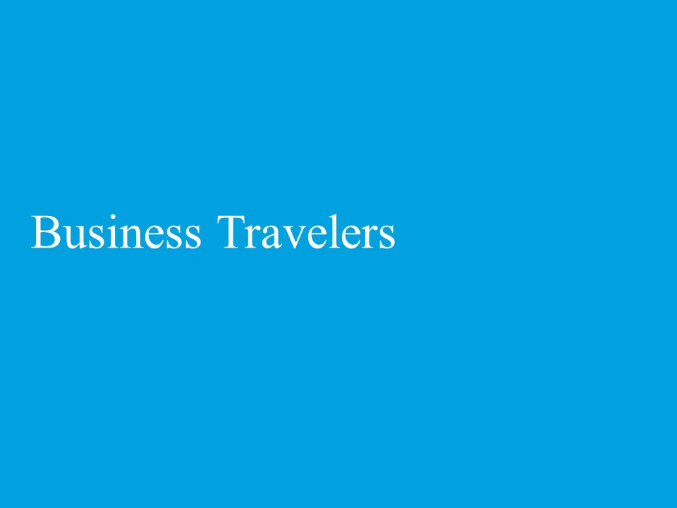 Who are business travelers