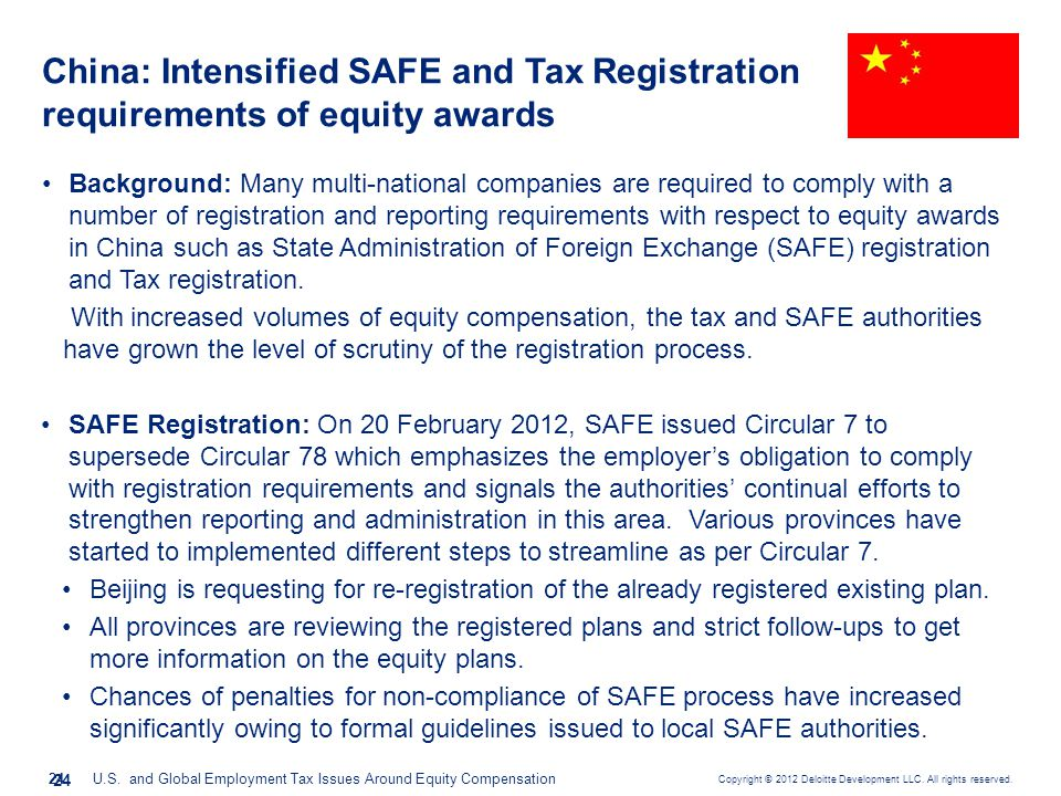 China: Intensified SAFE and Tax Registration