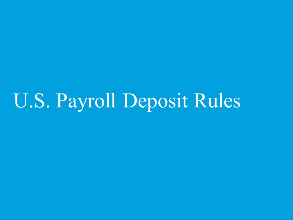 What is the payroll deposit date