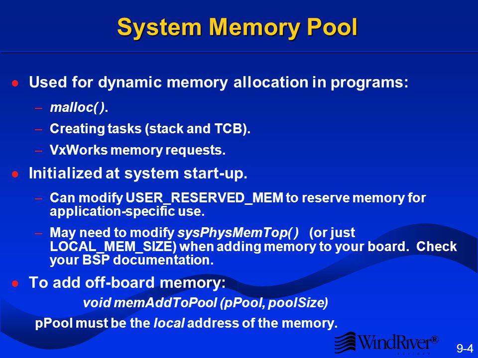 Target Server Memory Pool