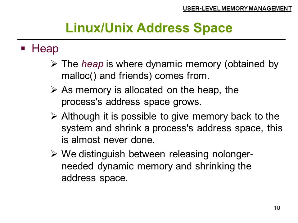 Linux/Unix Address Space