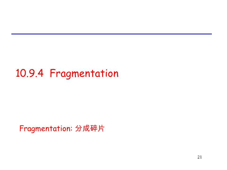 10.9.4 Fragmentation Fragmentation: 分成碎片