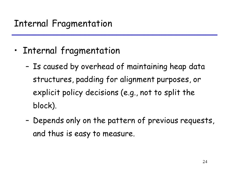 Internal Fragmentation