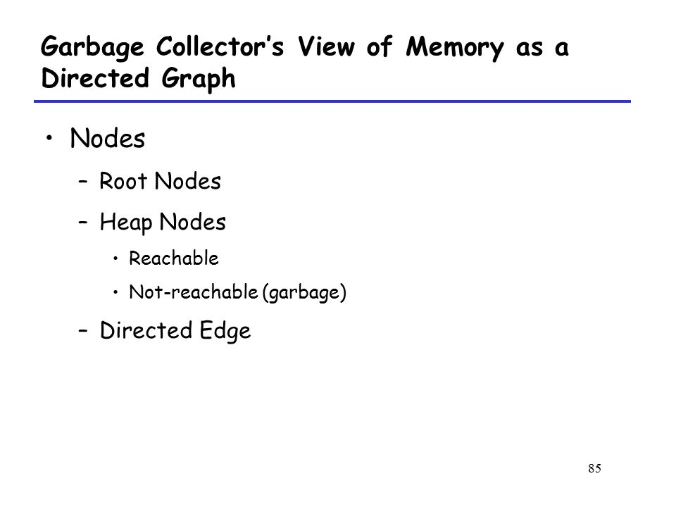 Garbage Collector's View of Memory as a Directed Graph