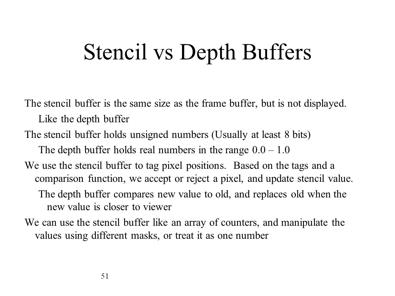 Stencil vs Depth Buffers
