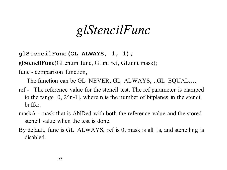 glStencilFunc