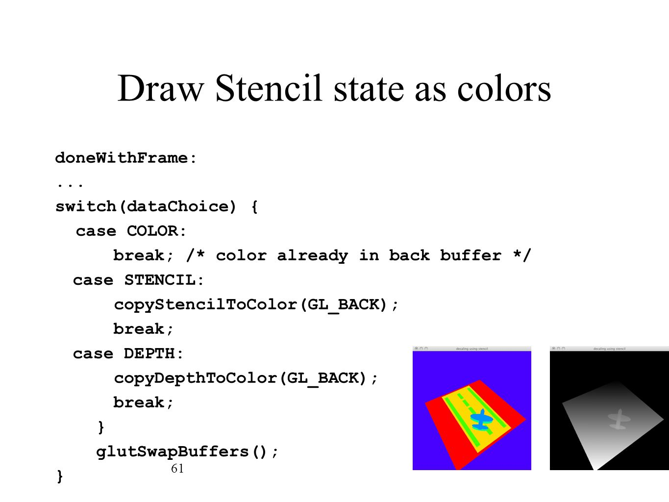 Draw Stencil state as colors