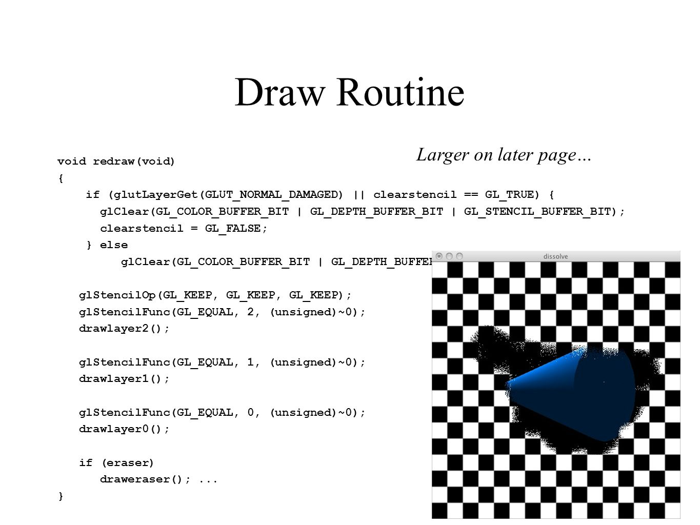 Draw Routine Larger on later page…