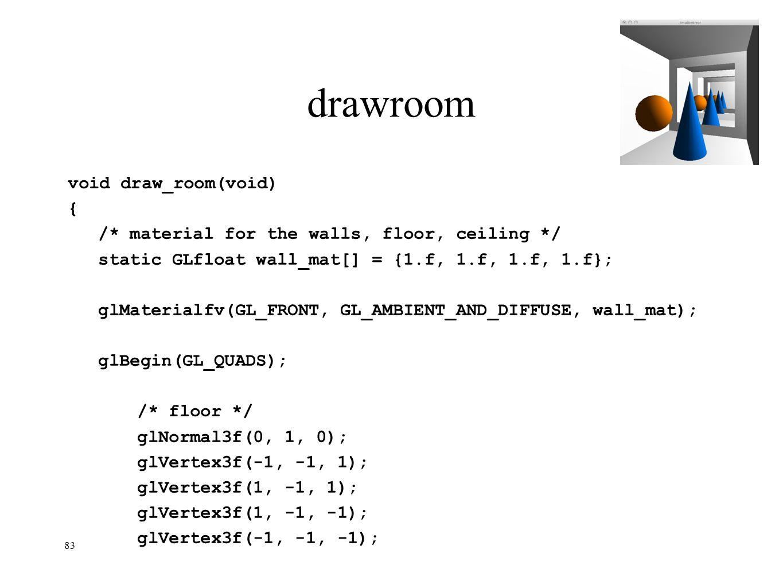 drawroom void draw_room(void) {