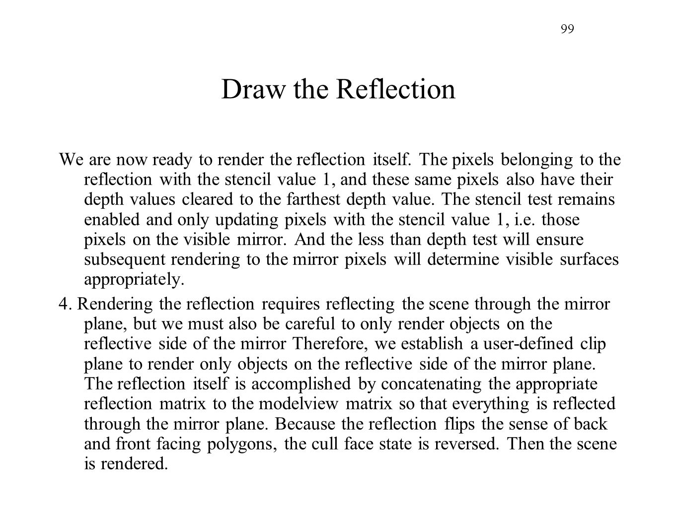 99 Draw the Reflection.