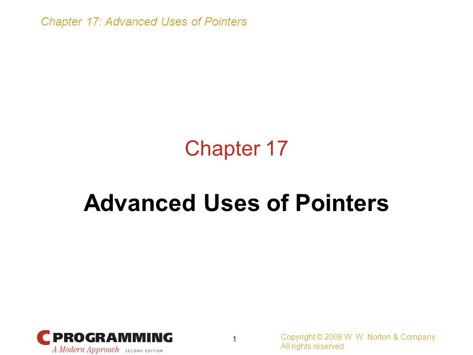 Advanced Uses of Pointers
