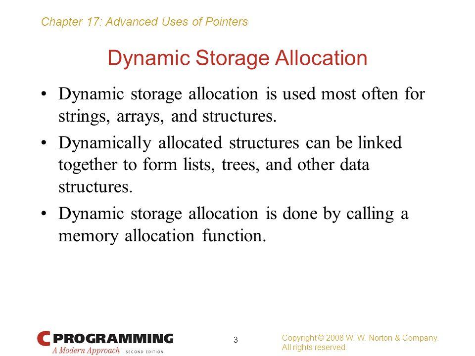 Dynamic Storage Allocation
