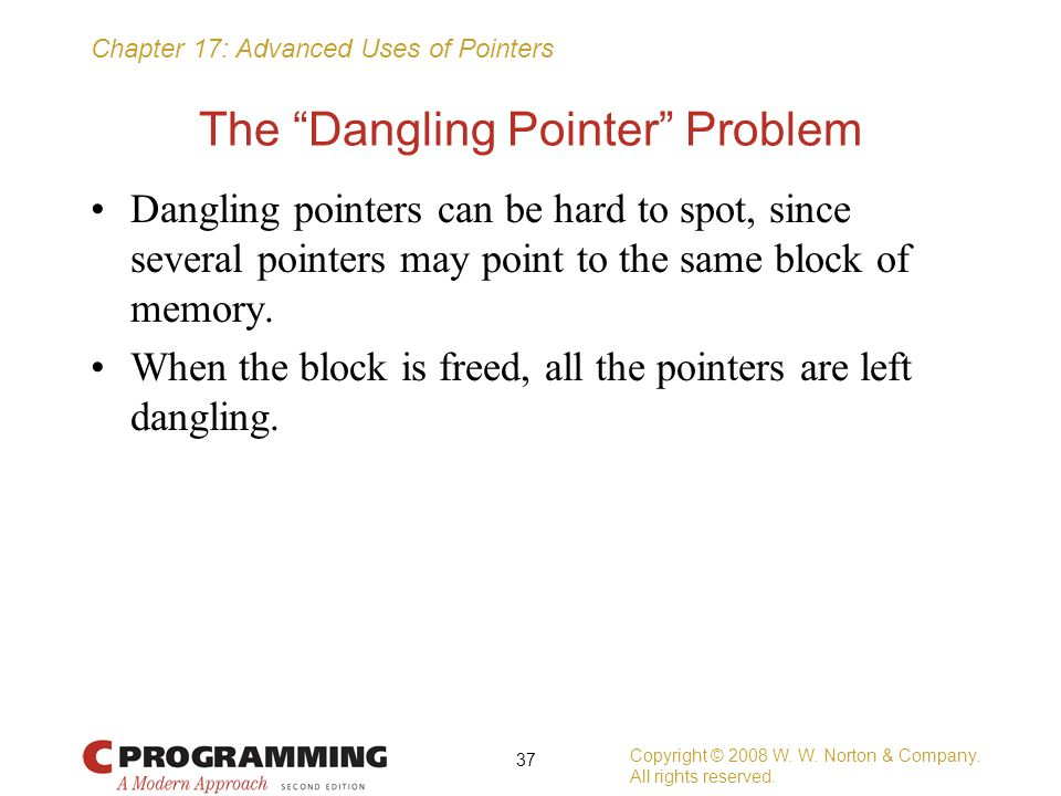 The Dangling Pointer Problem