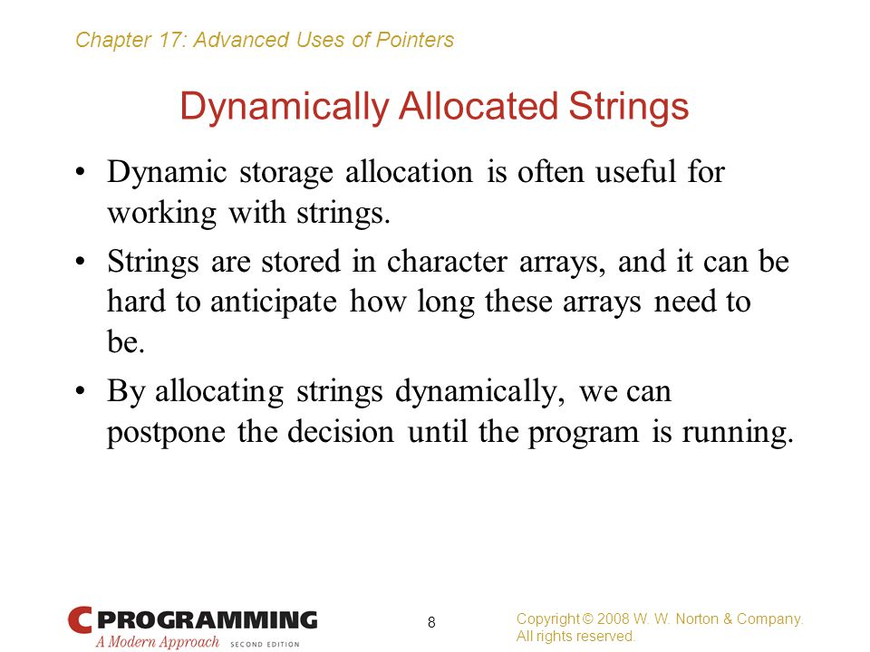 Dynamically Allocated Strings