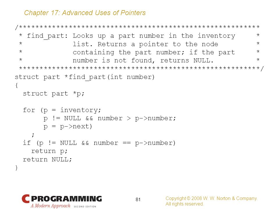 /. find_part: Looks up a part number in the inventory. list