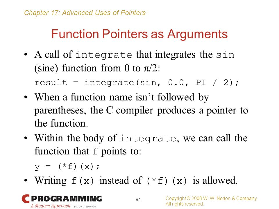Function Pointers as Arguments