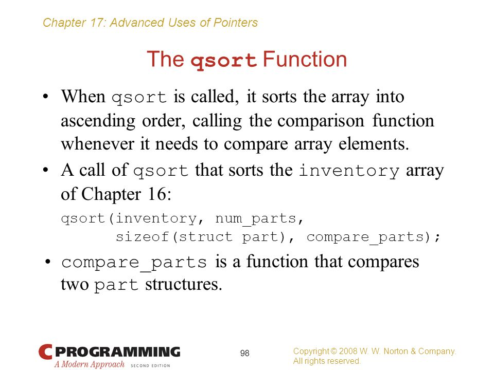 The qsort Function
