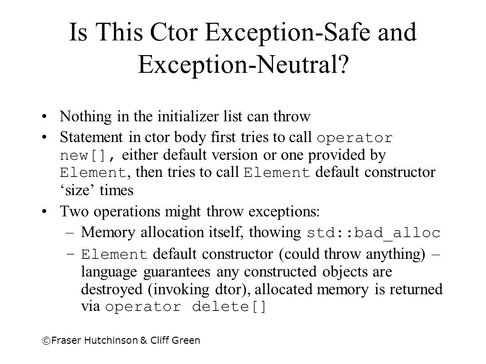 Is This Ctor Exception-Safe and Exception-Neutral