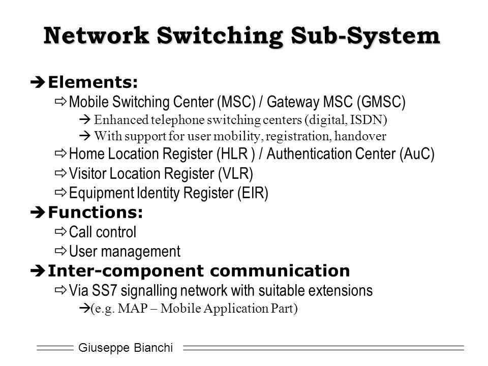 Network Switching Sub-System