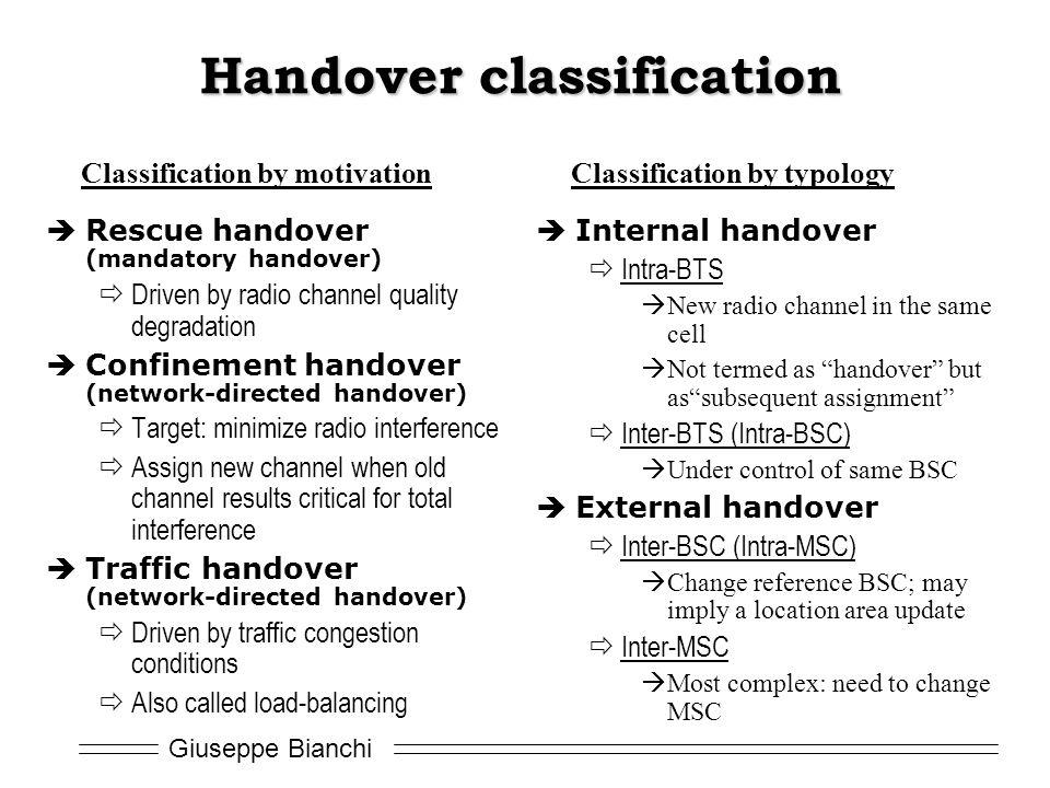 Handover classification