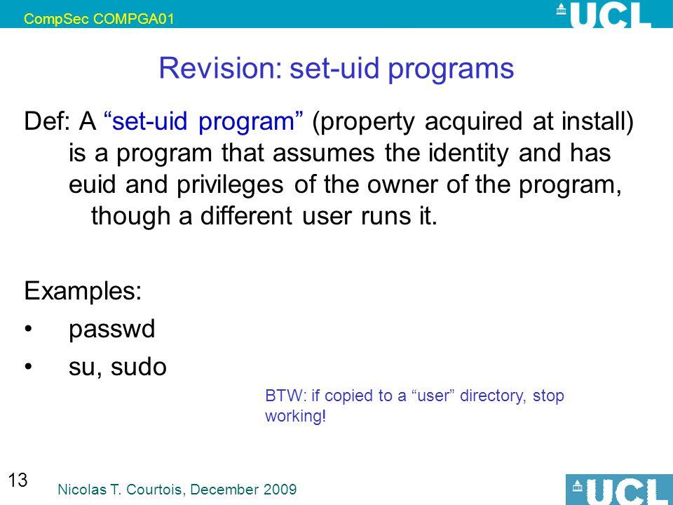 Revision: set-uid programs