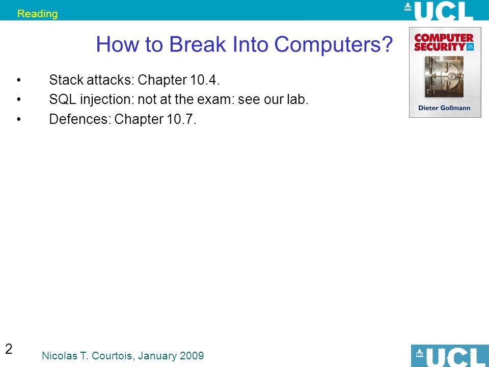 How to Break Into Computers
