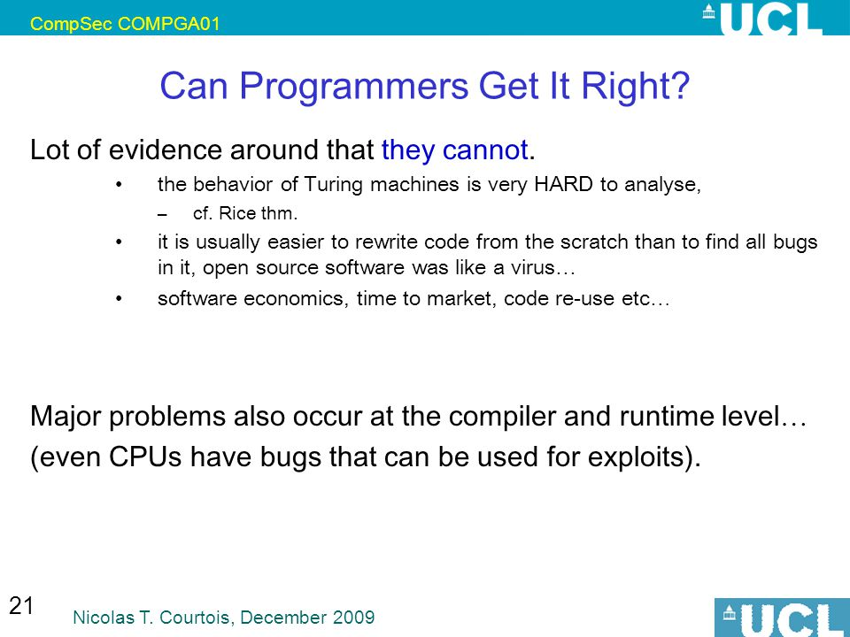 Can Programmers Get It Right