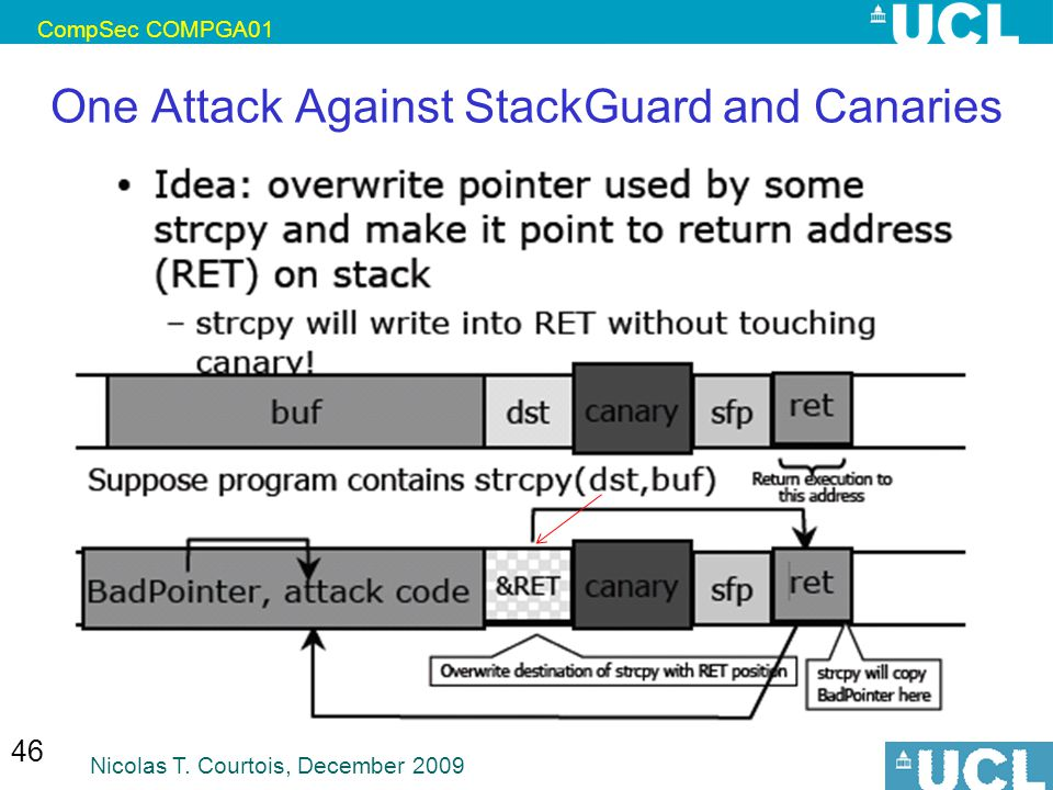 One Attack Against StackGuard and Canaries