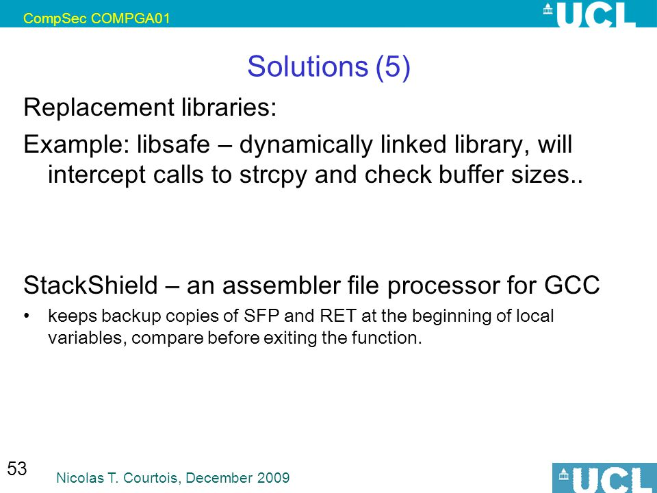Solutions (5) Replacement libraries: