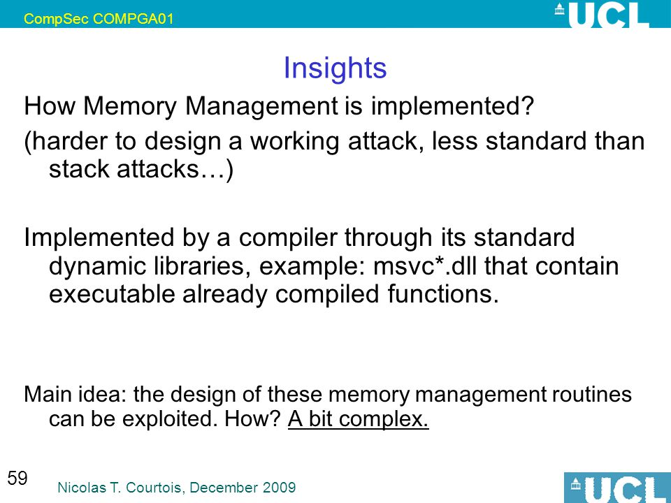 Insights How Memory Management is implemented
