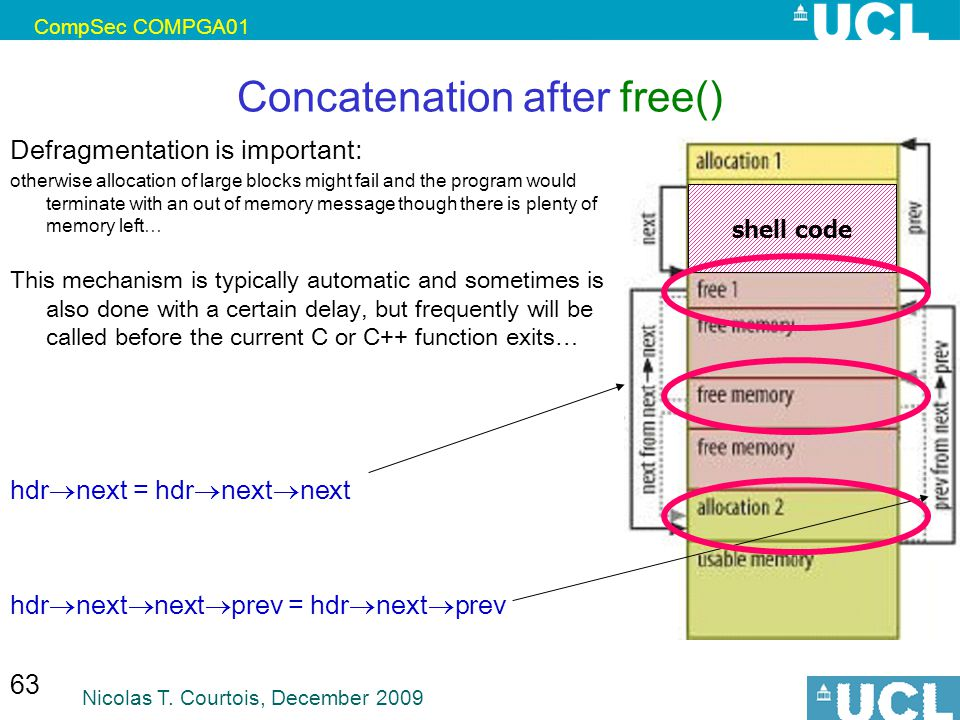 Concatenation after free()