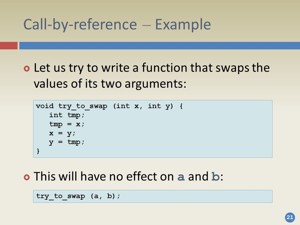 Call-by-reference – Example