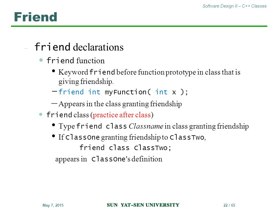 Friend friend declarations friend function