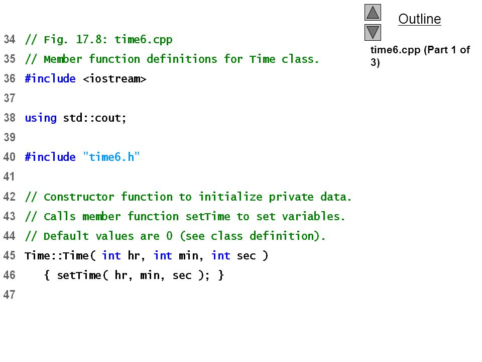 time6.cpp (Part 1 of 3)