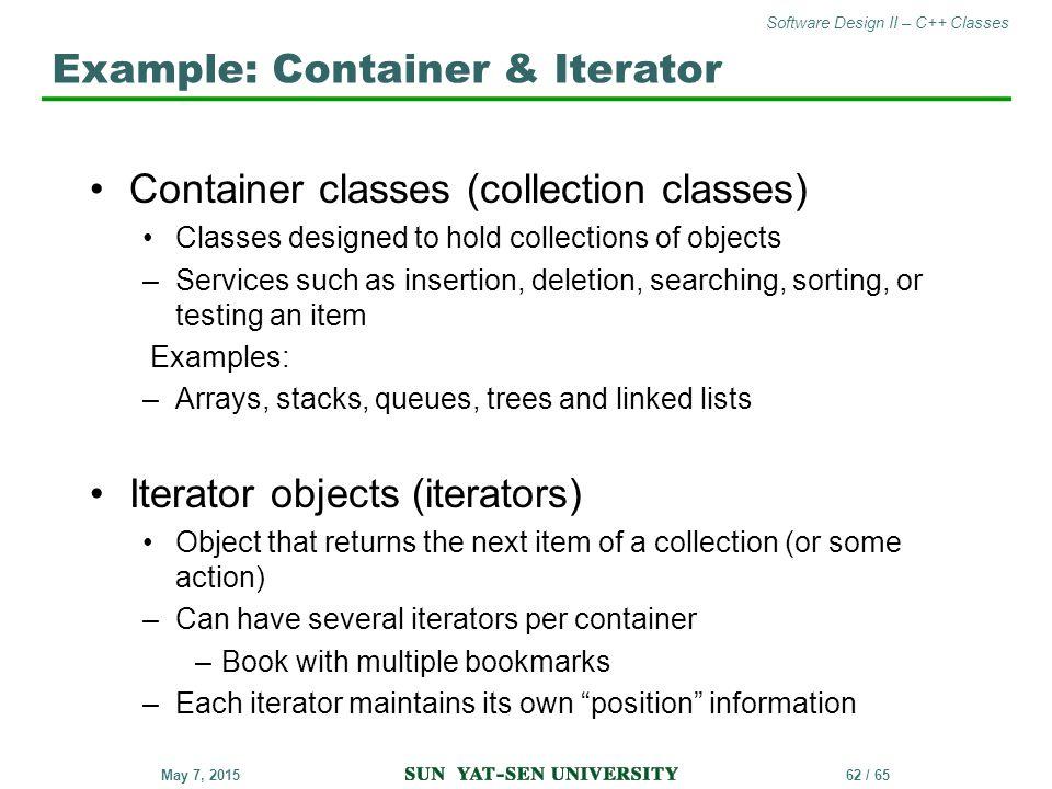 Example: Container & Iterator