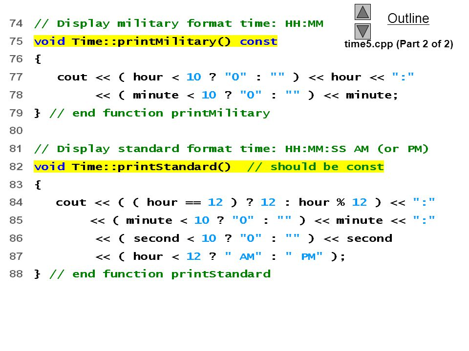 time5.cpp (Part 2 of 2)