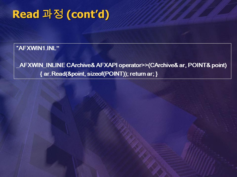 Read 과정 (cont'd) AFXWIN1.INL