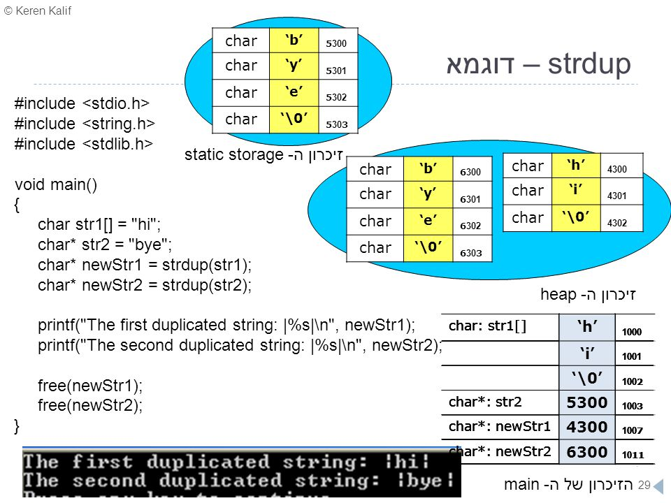 זיכרון ה- static storage