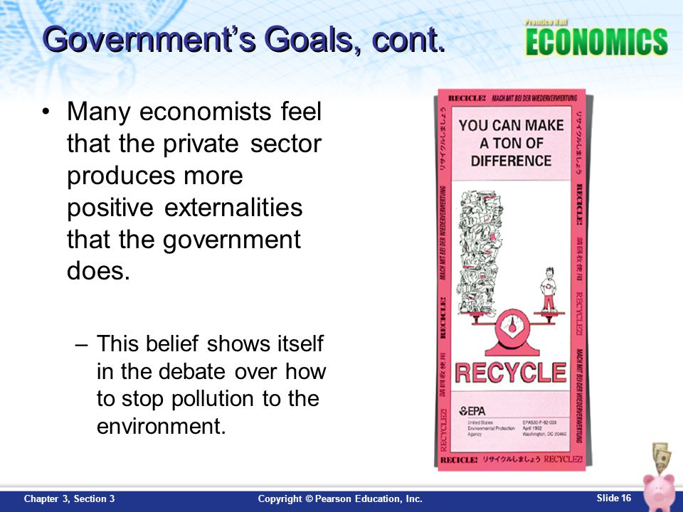 Government's Goals, cont.