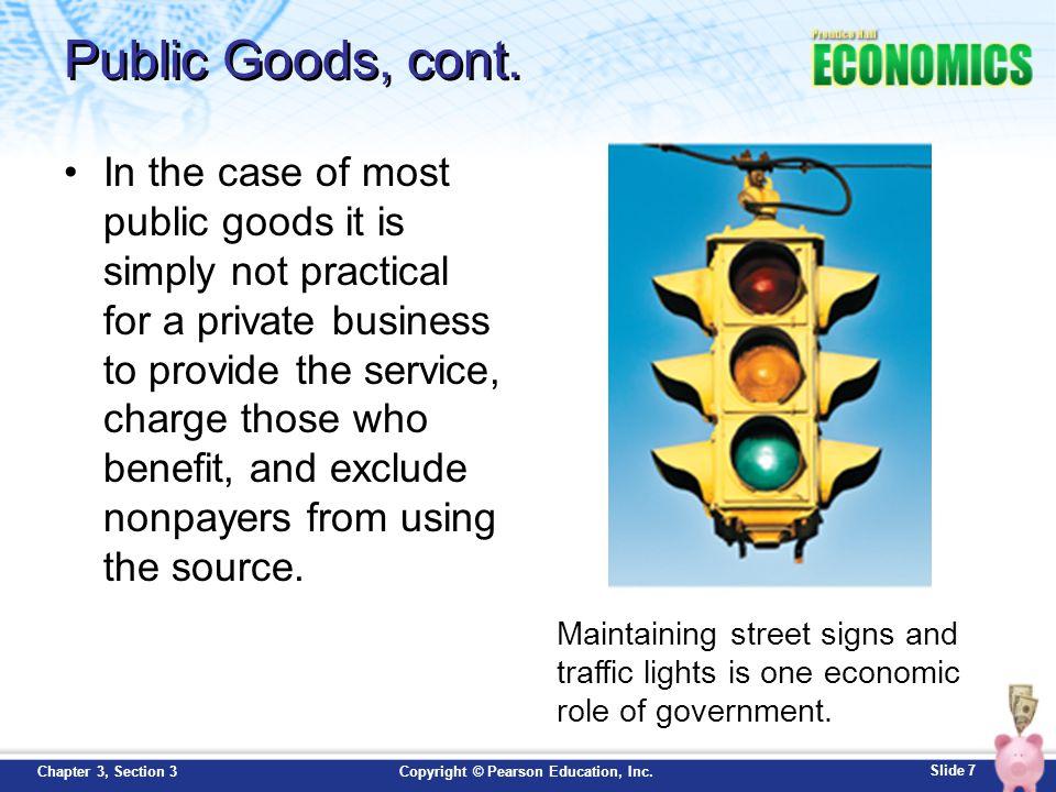 Public Goods, cont.